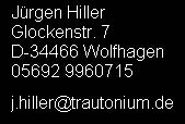 Jürgen Hiller, D-34466 Wolfhagen